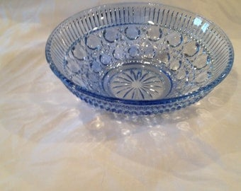 Indiana Glass Beautiful Blue Windsor Bowl