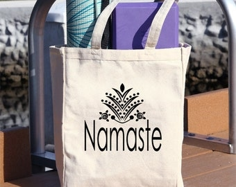 yoga tote bag, tote bag, tote, Namaste, mat bag, yoga accesories, bag, carry bag, canvas bag, pilates, meditation, canvas, #T13