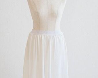 White Slip skirt, lace sheer slip under skirt slip with vintage lace