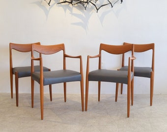 Rare set of 4 Sculpted Dining Chairs by Rastad and Relling of Norway