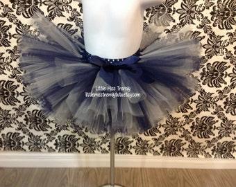 Navy Blue and Silver Tutu Skirts, Girls Tutu Skirts, Tutu Skirt, Silver and Blue Tutu, Navy Tutu Skirt, Navy Blue Tutu Skirt, Silver Tutu