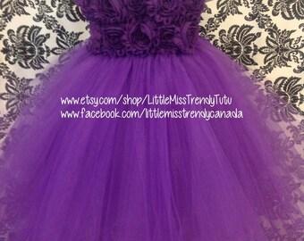 Couture Tutu Dress, Purple Flower Girl Tutu Dress, Purple Flower Tutu Dress, Purple Tutu Dress, Flower Girl Dress Purple, Purple Tutu