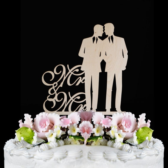 Wedding Cake Ideas For Gay Wedding : Gay wedding cake topper same sex MR and MR wedding by ...