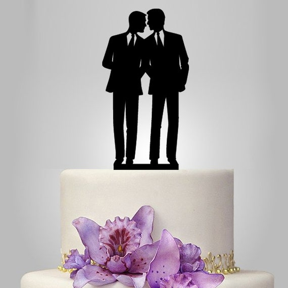 Same Sex Wedding Gift Ideas: Gay Cake Topper For Wedding Same Sex Cake Topper By