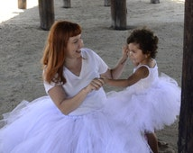Extra Fluffy Mommy and Me Tutu Set You Pick the Color Size Infant- Adult Plus Sizes Photo Prop Wedding Mothers Day