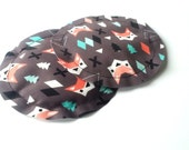 Trendy Nursing Pads, No Show, Absorbent, Breathable, Pliable, Slip Resistant Pads, Breast Pads, Fox Print, MANY PRINTS AVAILABLE
