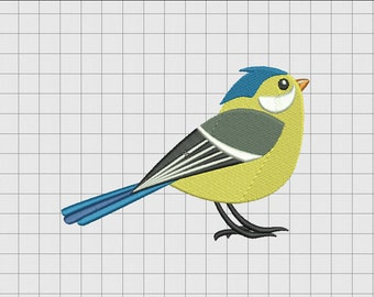 Bird Sparrow Embroidery Design in 3x3 4x4 5x5 and 6x6 Sizes