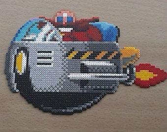 HandMade Sega Dr Robotnik 'Eggman' Bead Sprite. Sonic the Hedgehog!