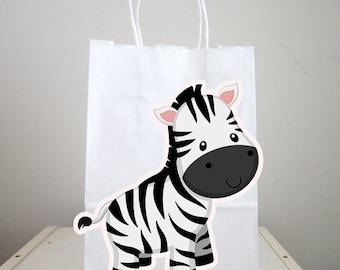 Zebra Goody Bags, Zebra Favor Bags, Zebra Gift Bags, Zebra Bag Goodie Bags