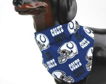 Dog Bandana, Dog Scarf, Dog Collar Bandana, Dog Accessories, Pet Accessories, Pet Bandana, Pet Gift, Free Shipping US, Football Colts Cotton