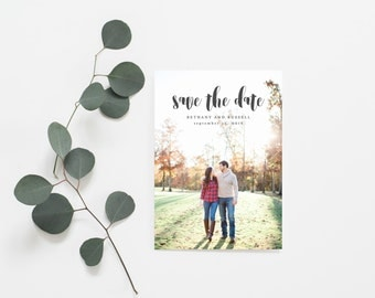 Save The Date Announcement Card - Printable Save the Date - Photo Template Card - Engagement Announcement Card (006)