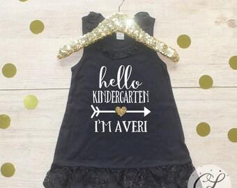 Back to School Dress / Kindergarten Cutie Shirt 1st Day of School Shirt Preschool Tee Pre-K Class Outfit T-Shirt First Personalized 107