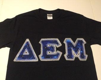 CUSTOM Greek Letter Shirt (Delta Epsilon Mu)