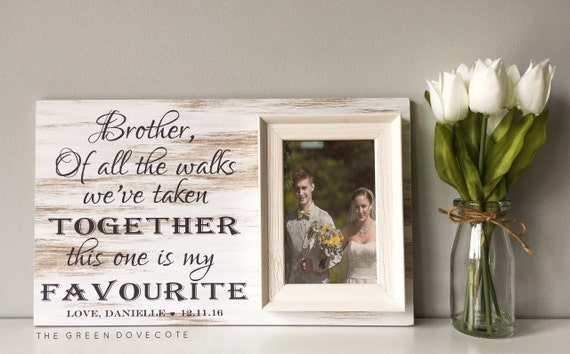 Special Wedding Gift For Brother : Wedding Gift For BrotherBrother Sister FramePersonalized Wedding ...