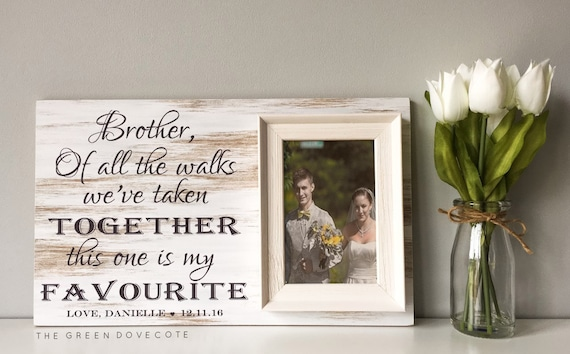 Special Wedding Gift Ideas For Brother : Wedding Gift For Brother Brother Sister Frame Personalized Wedding .