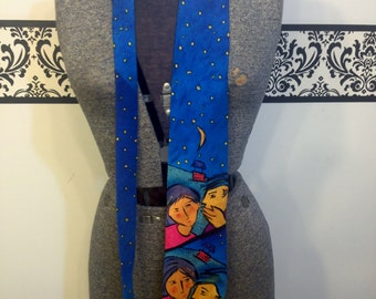 """1991 Beatles """" Do You Want To Know a Secret """" Novelty Men's Tie by The Apple Corp, 90's Vintage Men's Hipster Tie, Vintage The Beatles Tie"""