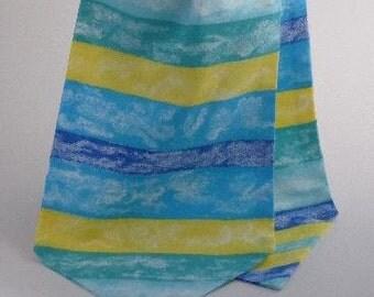 Short, Pure Cotton Cravat, Colourful Stripe