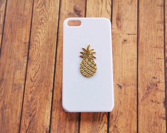 Pineapple iPhone 6 Case iPhone 5s White Gold Gifts Girls Gold White Phone Case iPhone 6s Pineapple Accessories iPhone 6s Plus