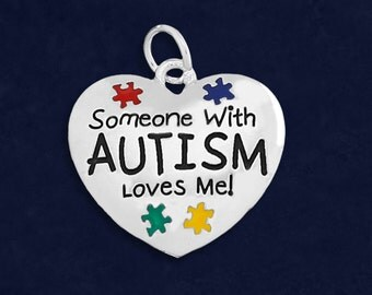 Someone With Autism Loves Me Charm (RETAIL) (RE-CHARM-P36-2)