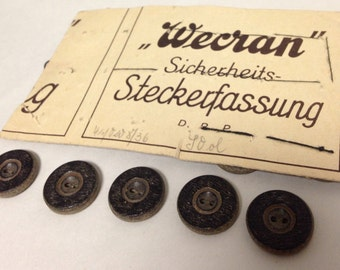 German Buttons - 2-hole with wood grain finish - 1""
