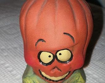 Spooky Ceramic Pumpkin