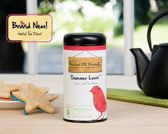 Organic Herbal Tea, SUMMER LOVIN', Loose Leaf Tea Blend, organic hibiscus iced tea, rose petals