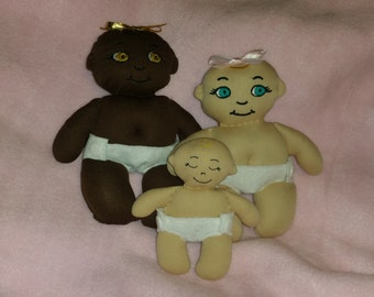 Baby Doll stuffies in the hoop designs -  three sizes