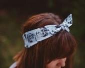 Star Wars Portraits Print Retro Knotted Stretch Headband