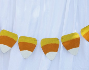Laminated Burlap Candy Corn Banner