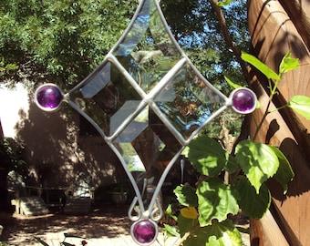 Purple Beveled Suncatcher