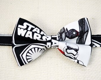 B114 Star Wars Inspired bow tie /baby/boy/adult/adjustable strap/Clipon/bow tie