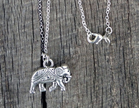 Silver Elephant Necklace 925 Sterling Silver 30 Inch Chain Symbol of Strength, Greatness and Dignity CM9251