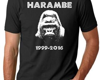 Harambe T-Shirt Harambe 1999 - 2016 RIP Harambe Tee Shirt