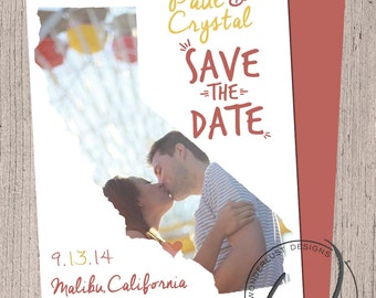 California Save The Date | Printable Digital File | Wedding Save the Date Design