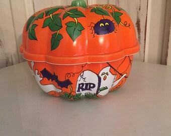 Retro Halloween Pumpkin Candy Dish