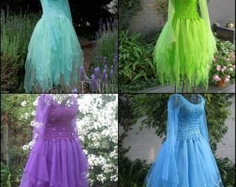 Woman's Fairy Costume ~  Tinkerbell Plus Size  Dress ~ Renaissance Faire ~ Halloween ~ Theatre ~