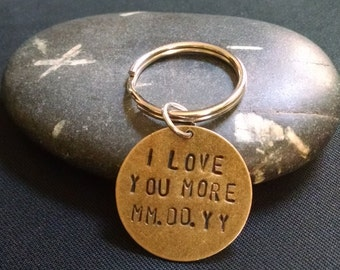 Anniversary Key Chains - Hand Stamped