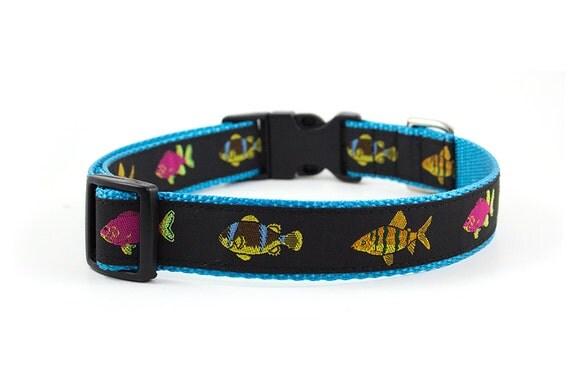 Fish dog collar size l adjustable length pattern for Fish dog collar