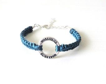 Survivor Awareness Bracelet Cancer Chronic Acute Illness Causes Bracelet YOU Choose Your Cord Color