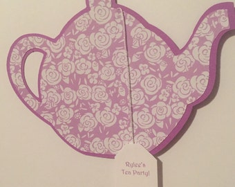 Teapot Invitations - Set of 10