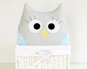 Owl Minky Plush Pillow Toy Bird Nursery Decor