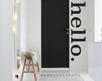 Hello Wall Decal, Hello Decal, Hello Wall Decor, Hello Dorm Decor, Unique Wall Art, Mod Nursery Decor, Interior Decorating, Greetings Decor