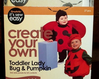 Simplicity Lady Bug Pumpkin Kit Toddler Create Your Own Sew Easy New in Package