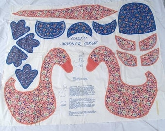 Calico Mother Goose Fabric Panel