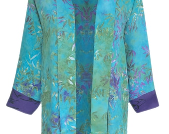 Plus Size Clothing | Women's Oversized Kimono Cardigan With Long Sleeve | Lagenlook Plus Size Kimono Jacket Cardigan, One Size (1x 2x)