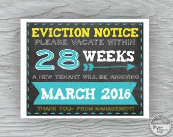 Eviction Notice Digital File, Pregnancy Announcement Sign, Older Child Eviction Notice, Second Child Announcement, Photo Prop