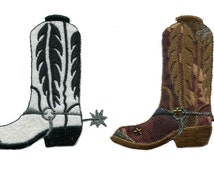Cool Cowboy Boot Patch Camo Boot or White Boot 9.5cm