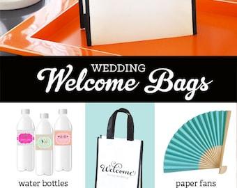 Destination Wedding Welcome Bags - Hotel Wedding Gift Bags Out of Town Welcome Bags Wedding Welcome Bag Ideas OOT Guest Bag (EB2400)- 6 bags