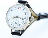Silver and Enamel Military Wrist Watch