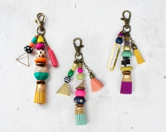 Hey There- Tassel & Beaded Keychains
